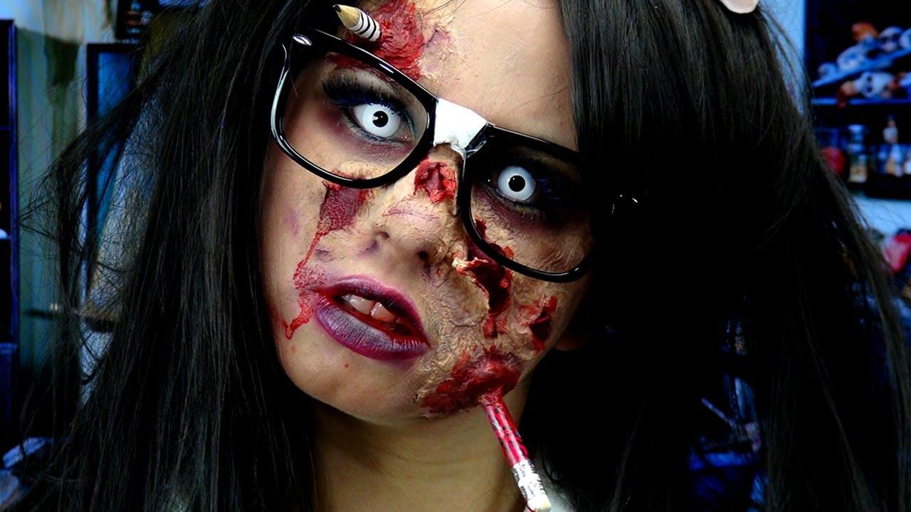 Макияж зомби на Хэллоуин для девушки своими руками - поэтапная инструкция с фото и видео