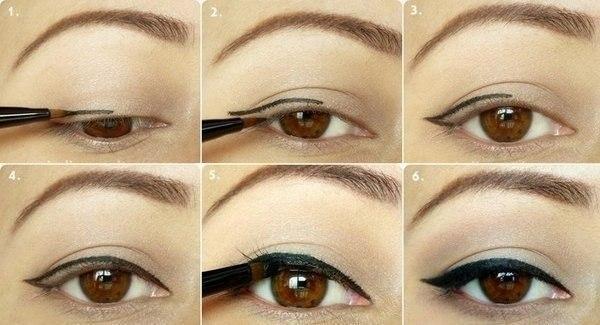 Фото легкий летний макияж для карих глаз со стрелкой