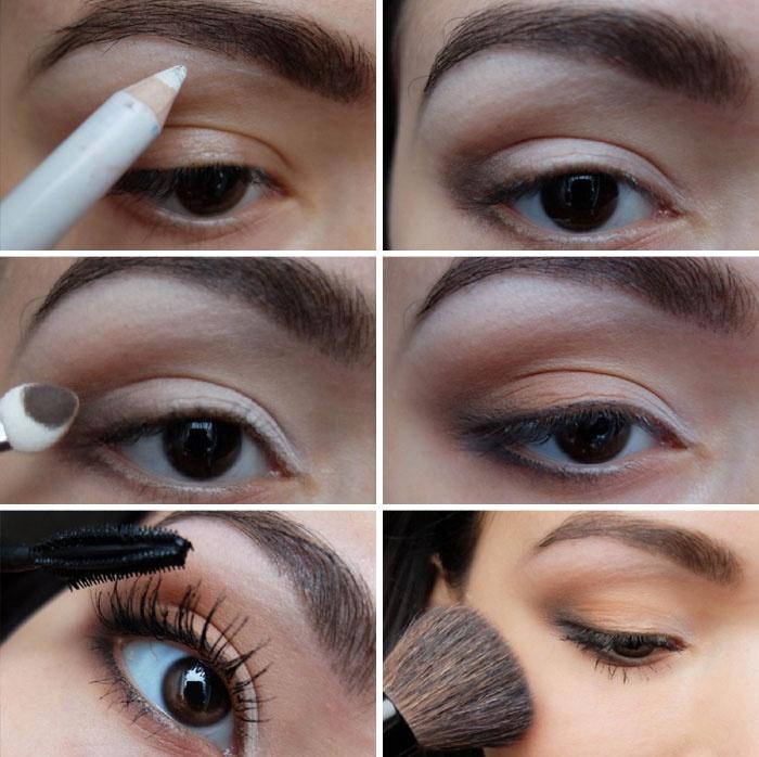 Фото легкий летний макияж для карих глаз