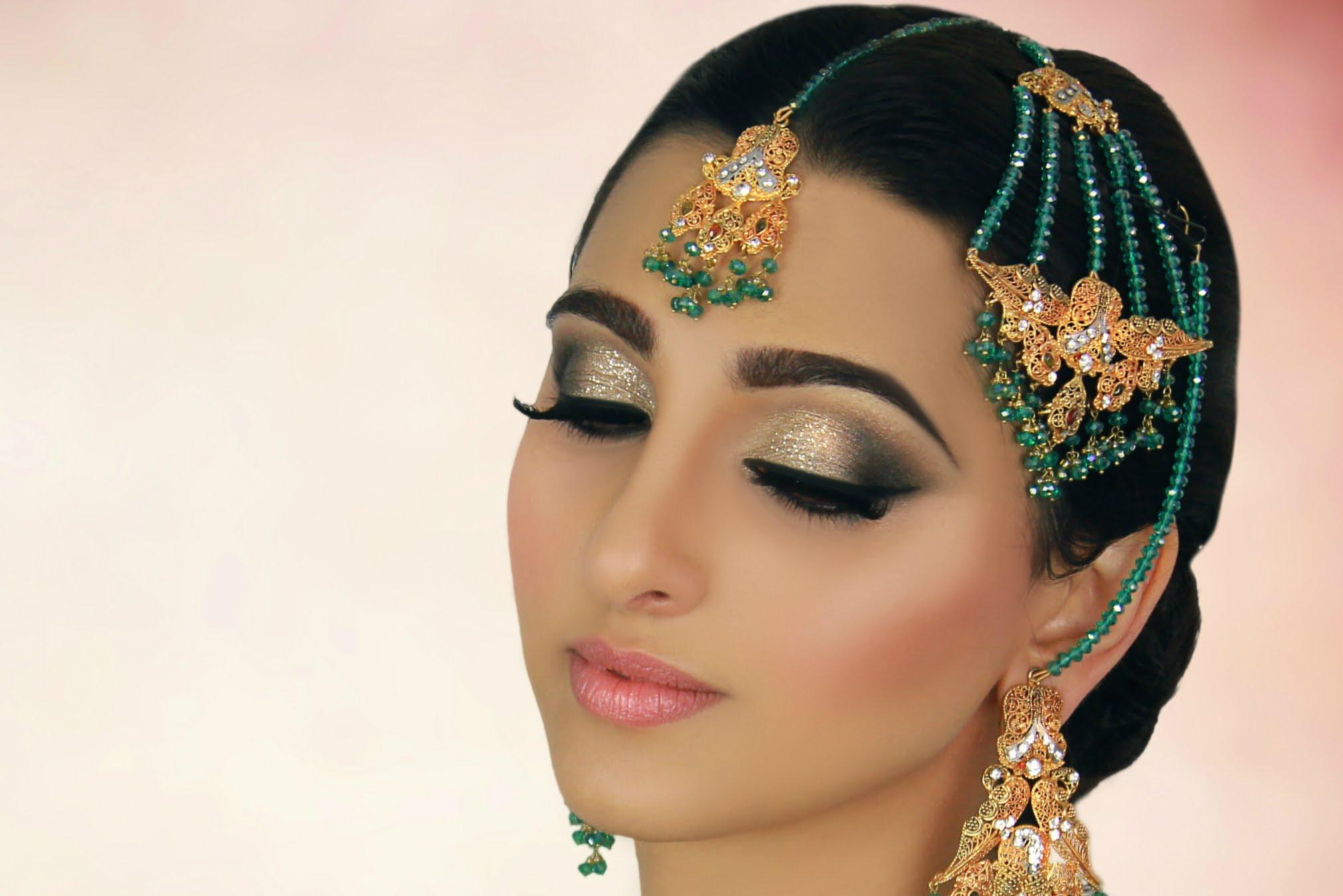 Арабский макияж для зеленых глаз
