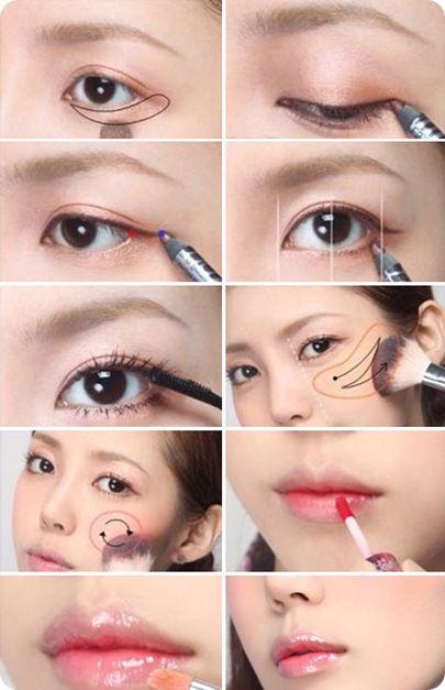корейский макияж фото пошагово