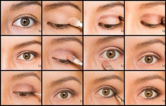 офисный макияж глаз пошагово