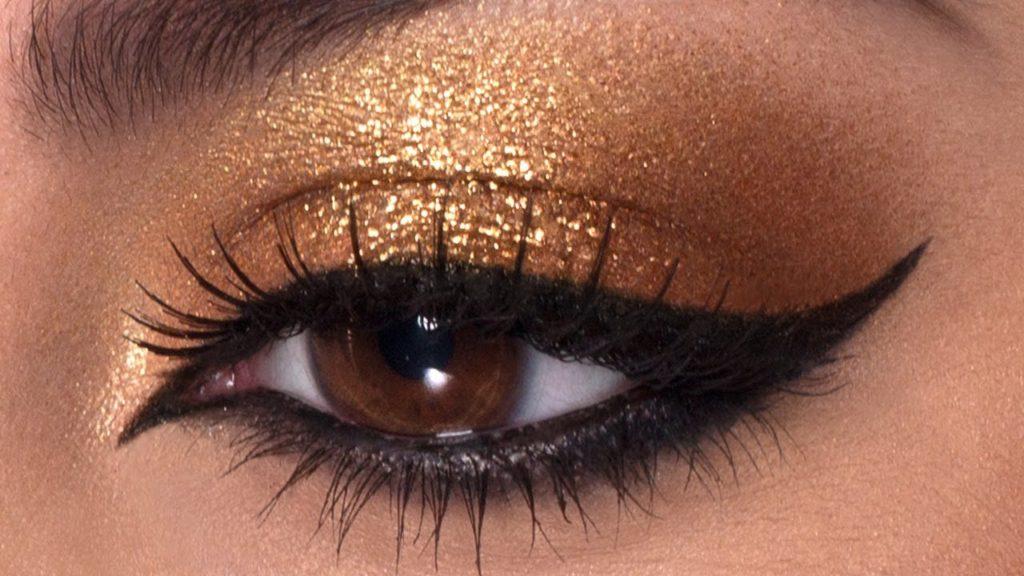 Картинки макияж стрелки для карих глаз