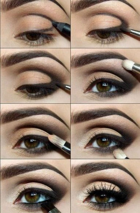 восточный макияж для карих глаз пошагово фото