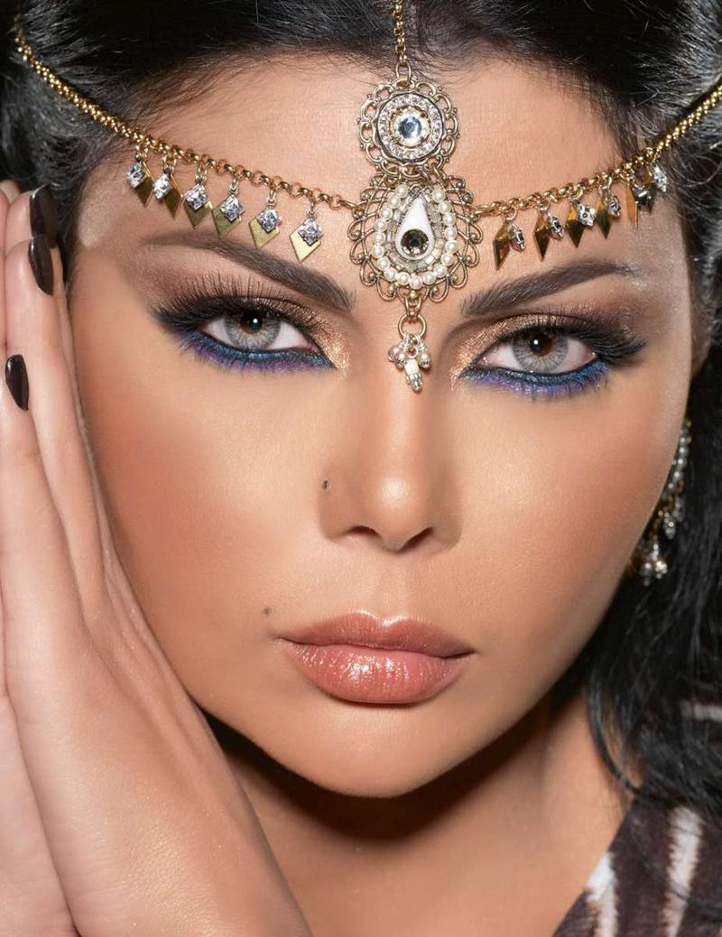 Восточный макияж для серых глаз фото