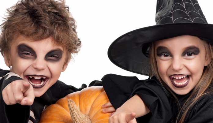 Makiyazh-dlya-detej-na-Helllouin Макияж на Хэллоуин ☠ Как сделать грим на Halloween в домашних условиях