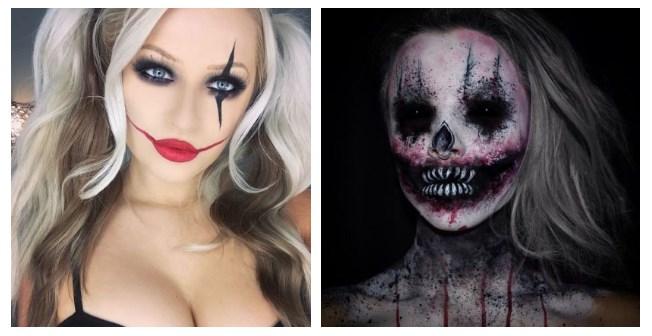 Красивый и страшный макияж на Хэллоуин