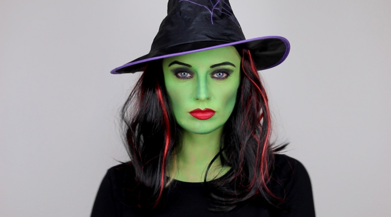 Грим ведьмы хэллоуин