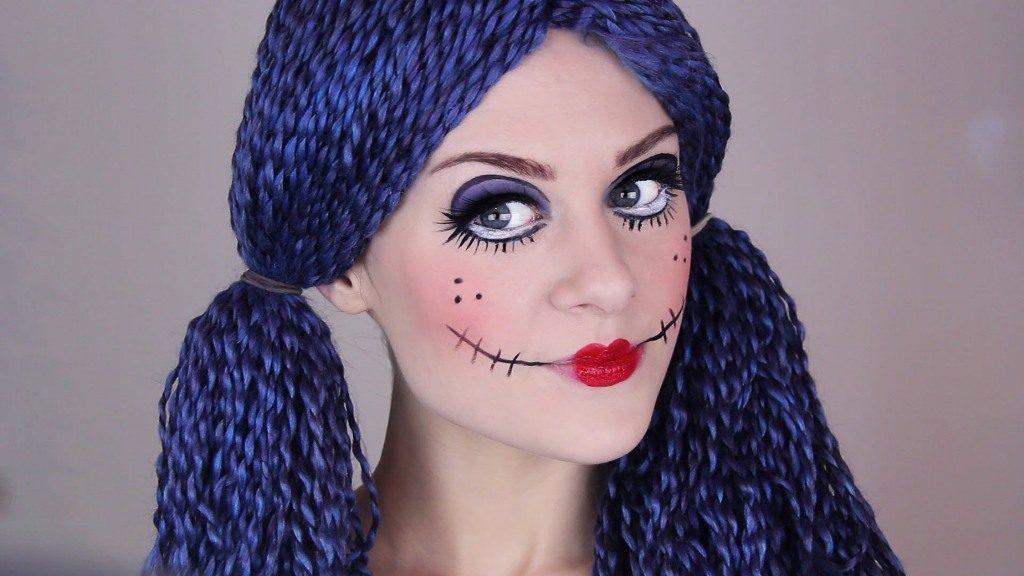 Грим куклы на хэллоуин