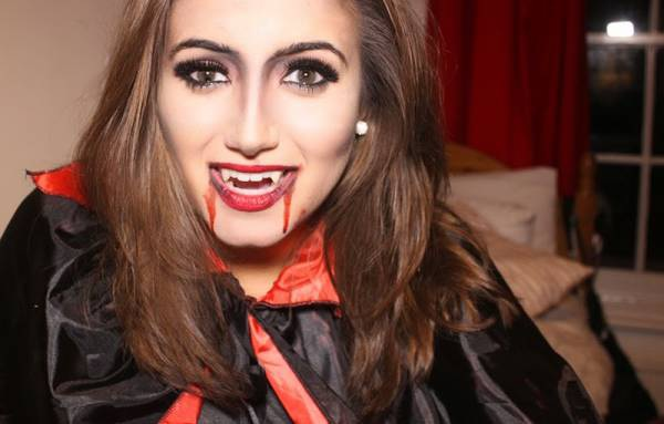 Грим вампира на хэллоуин в домашних условиях