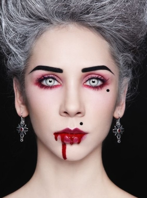 Грим вампирши на хэллоуин