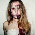 Макияж зомби на Хэллоуин для девушки