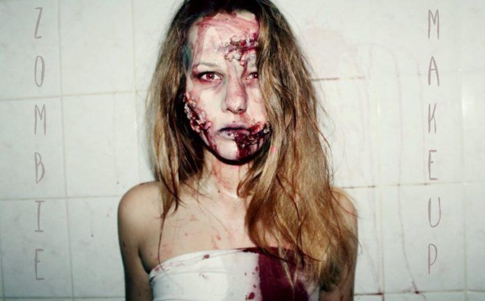 Грим зомби на Хэллоуи в домашних условиях
