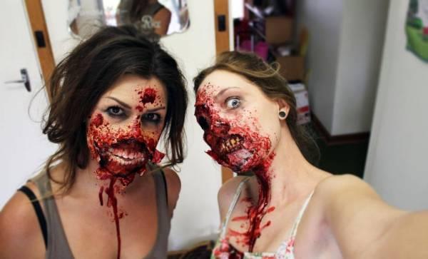 Грим зомби на Хэллоуин