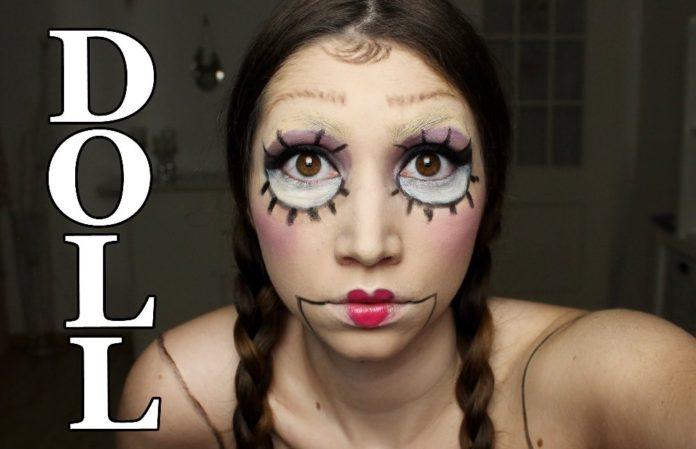 Как сделать макияж куклы на хэллоуин пошагово с фото