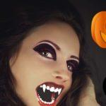 Макияж девушки-вампира на Хэллоуин