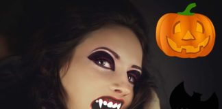 Макияж девушки-вампира на хэллоуин своими руками