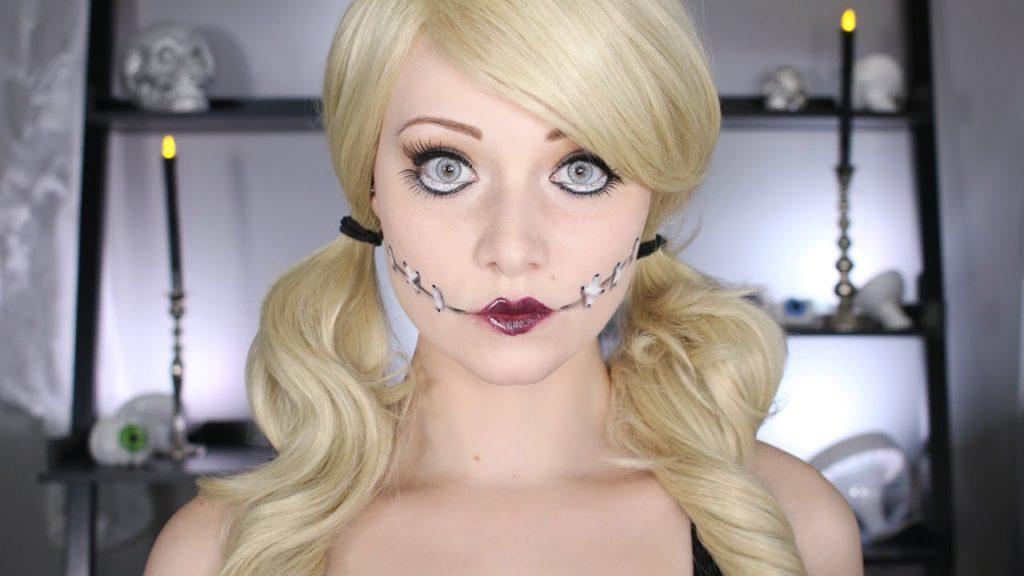 Макияж куклы для блондинки на хэллоуин