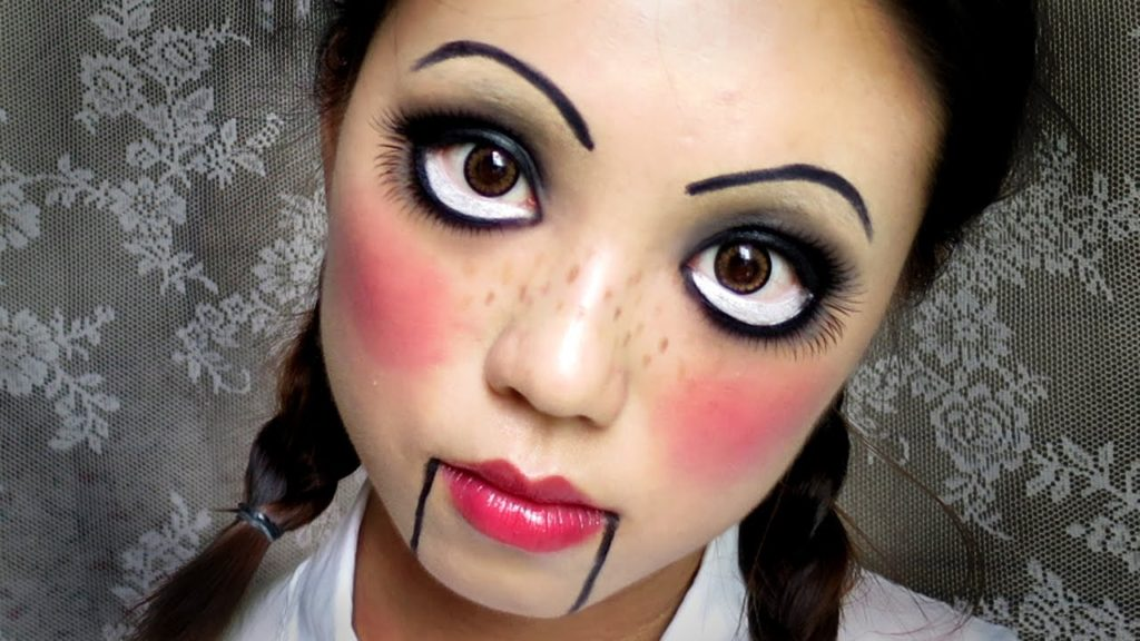 Макияж куклы на хэллоуин для девушки