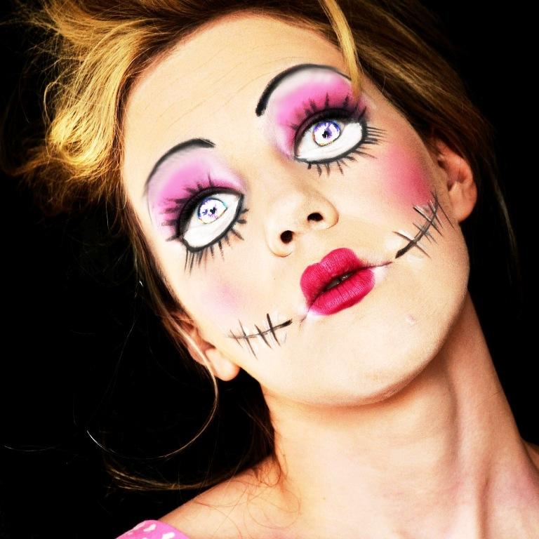 Макияж куклы на хэллоуин своими руками
