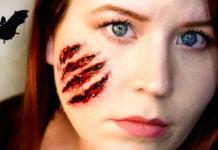 Макияж шрамы на лице на хэллоуин