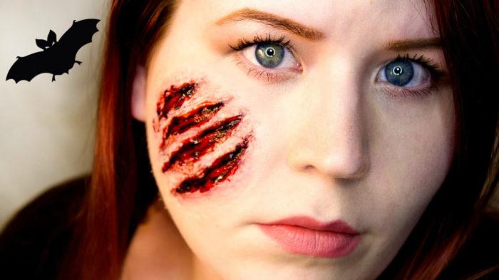 Как сделать шрамы на лице на Хэллоуин в домашних условиях 79