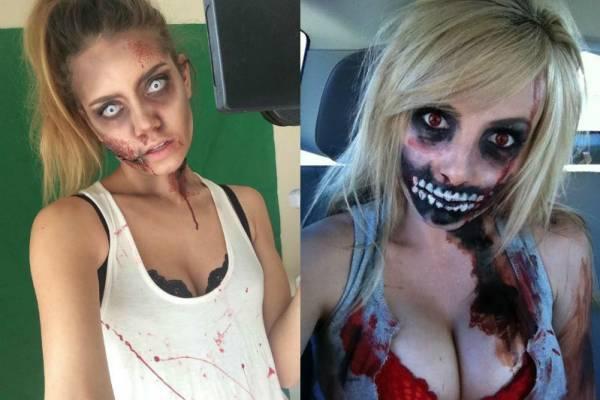 Макияж зомби на Хэллоуин поэтапно