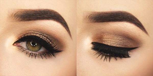 Модный макияж глаз осенью