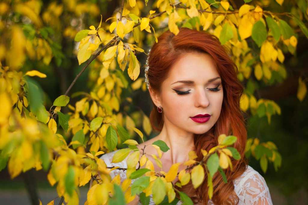 Осенний макияж для рыжих