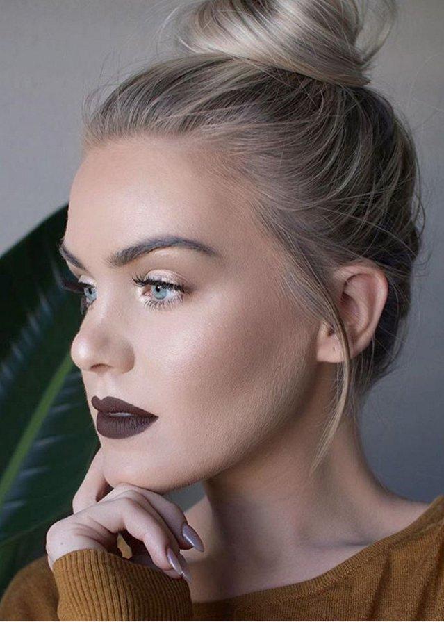 Зимний макияж для голубых глаз