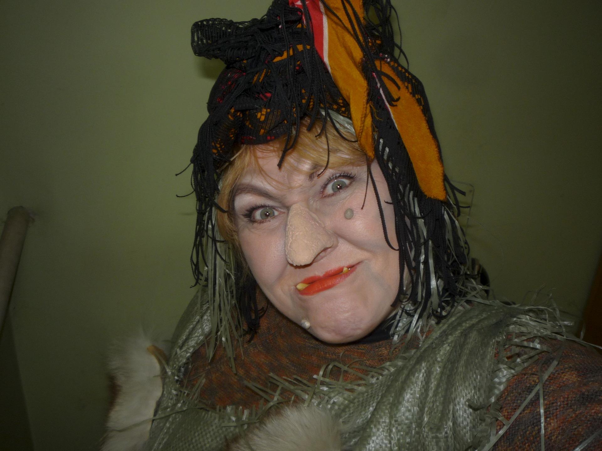 Макияж баба яга на хэллоуин