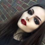 Готический макияж на Хэллоуин