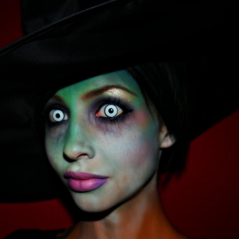 Макияж ведьмы на хэллоуин своими руками