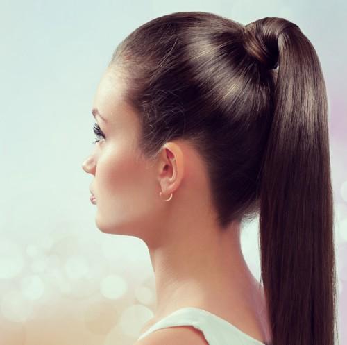 Конский хвост для длинных волос на Новый год