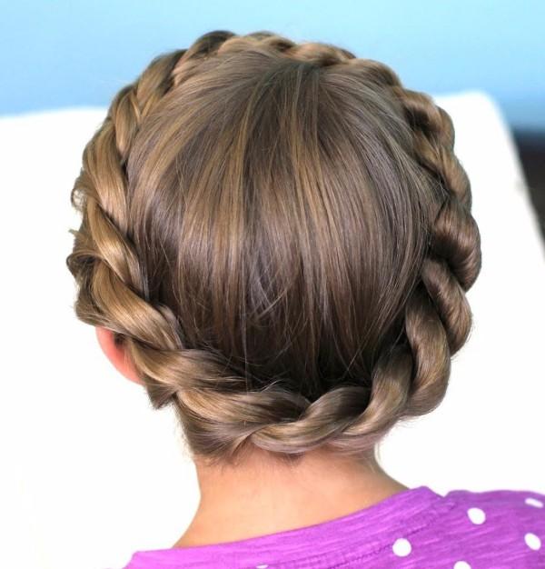 Красивые прически в школу на волосы средней длины
