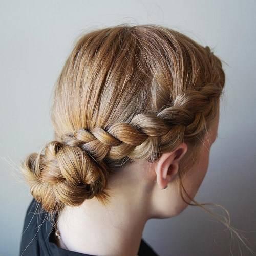 Прическа в школу на средние волосы