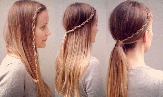 Прически с распущенными волосами в школу